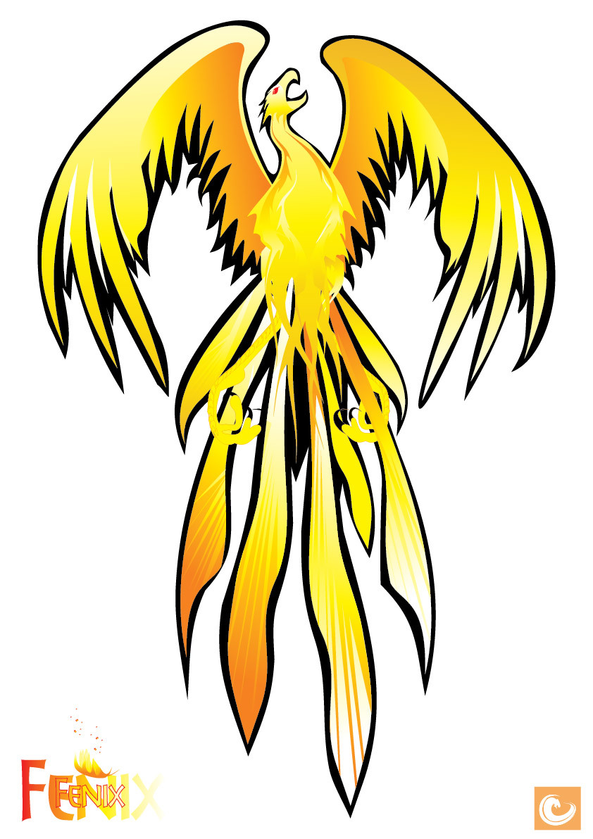 Phoenix clipart yellow Yellow Abstract Vector Phoenix Large