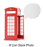 Phone Booth clipart Phone royalty booth  red