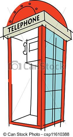 Phone Booth clipart Phone booth Vector phone icon