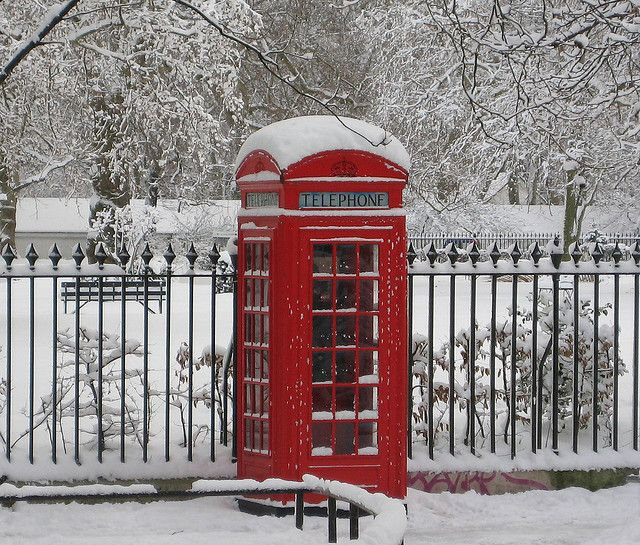 Phone Booth clipart red post box #7