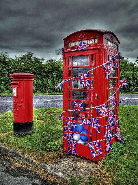 Phone Booth clipart red post box #8