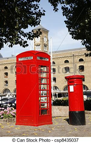 Phone Booth clipart red post box #5