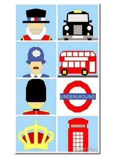 Phone Box clipart london underground Features in Nursery bundle patterns