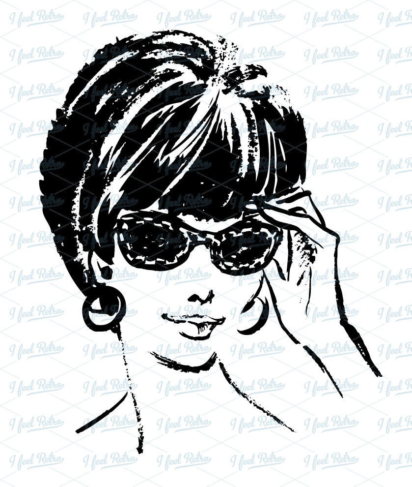 Phone clipart 50s woman Sunglasses with Clipart Woman Pinterest