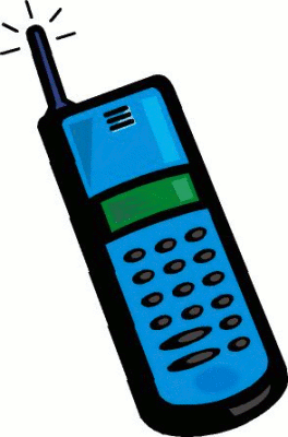 Phone clipart blue cell #5
