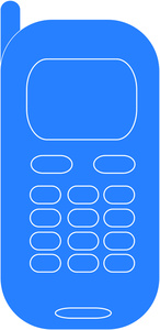 Phone clipart blue cell #7