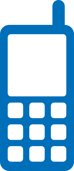 Phone clipart blue cell #6