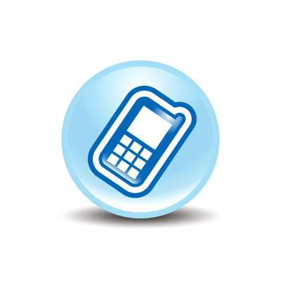 Phone clipart blue cell #12