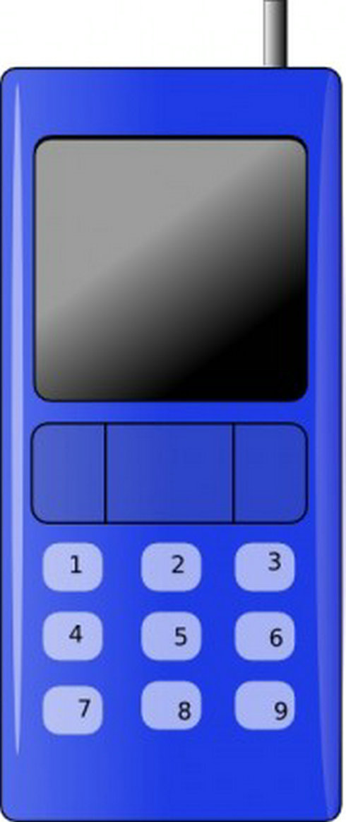 Phone clipart blue cell #9