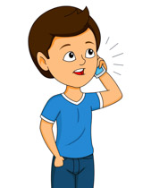 Phone clipart boy Talking On phone Search 73