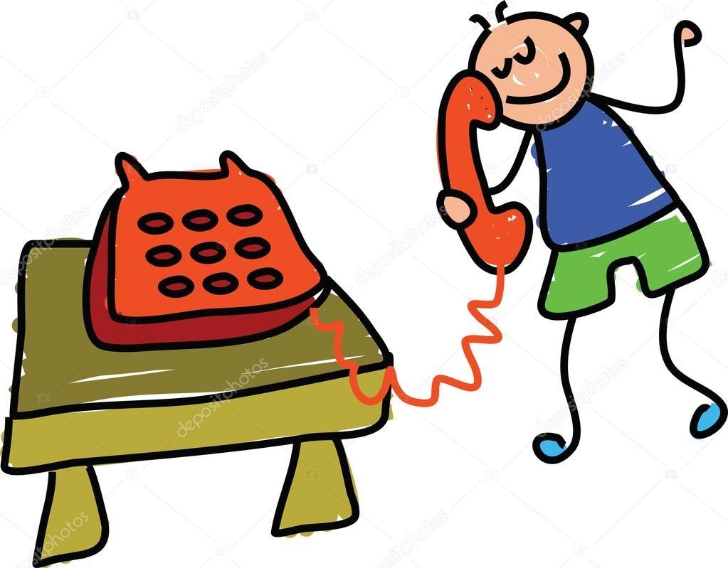 Phone clipart boy — Vector boy Prawny with