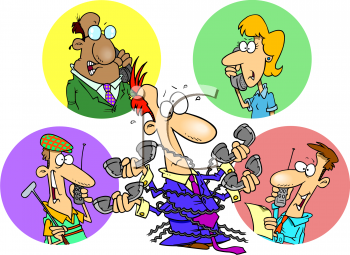Phone clipart conference call #13