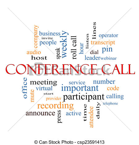 Phone clipart conference call #1