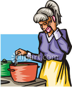 Phone clipart cooking The Woman While Talking collection