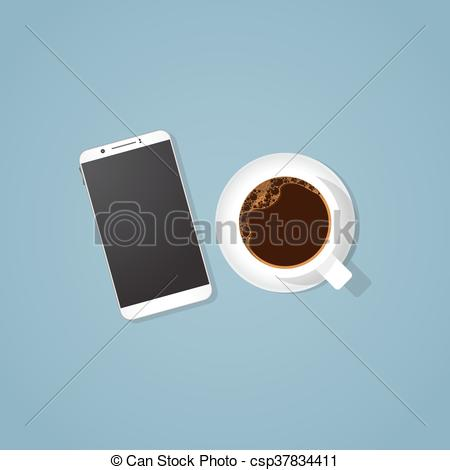 Phone clipart cup  Clip and Coffee phone