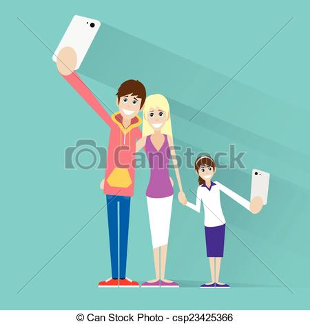 Phone clipart family Family selfie couple photo on