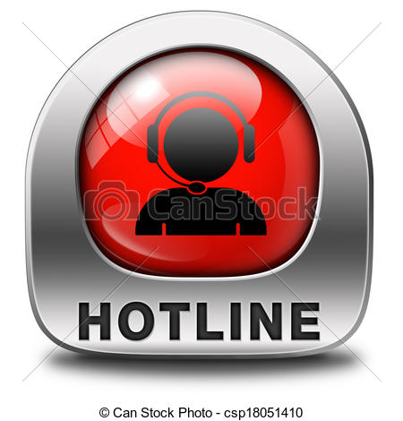Phone clipart hotline Of icon for Stock button
