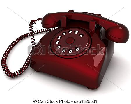 Phone clipart landline phone Illustration of Stock dimensional Clipart