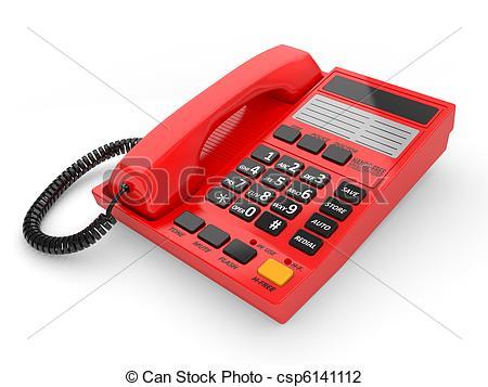 Phone clipart modern  on white telephone csp6141112