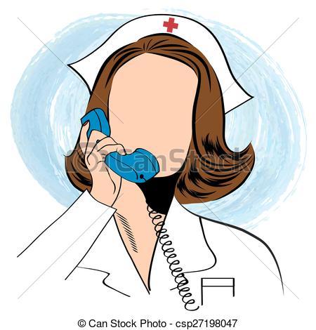 Phone clipart nurse #10