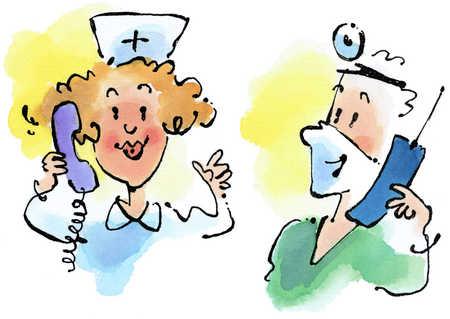 Phone clipart nurse #13