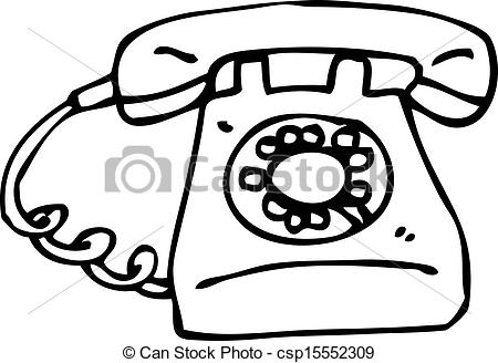 Phone clipart old style #6