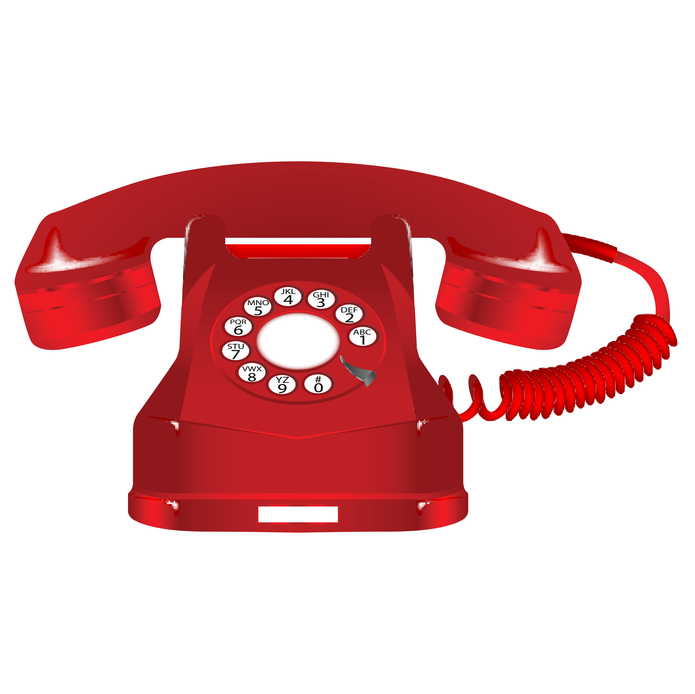 Clipart Red cps Telephone Red