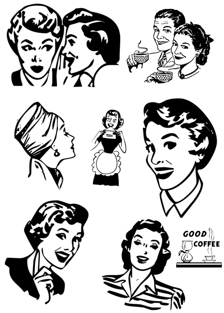 Advertisement clipart vintage woman STaMPS**: Stamp  Really ViNTaGE