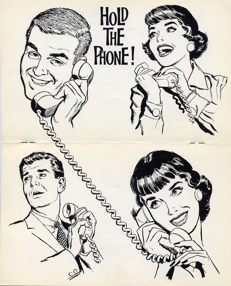 Art 1962 Clip phone the