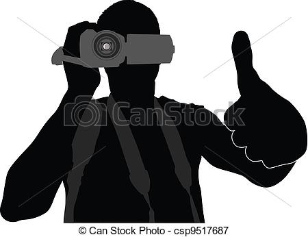 Photography clipart camera man Illustration Cameraman with Vectors of