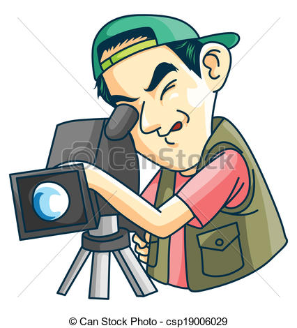 Photography clipart camera man Illustration Cameraman Search Vector of