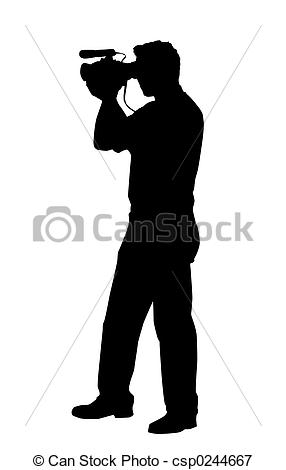 Photography clipart camera man With video video isolated handy