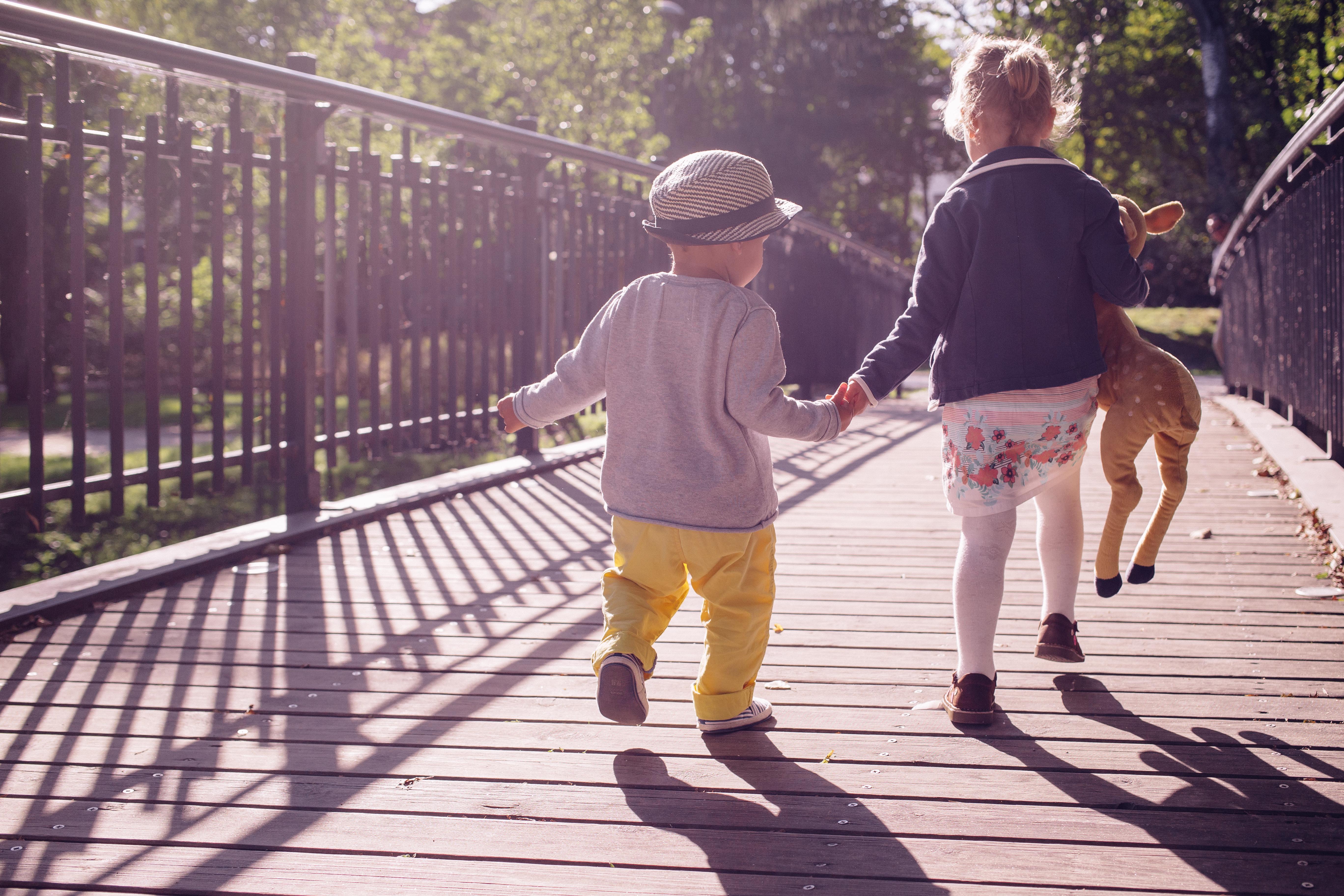 Photography clipart child museum Bridge Walking photos Free children