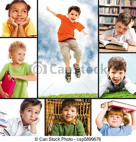 Photography clipart childhood Csp5899676 portraits Childhood of different