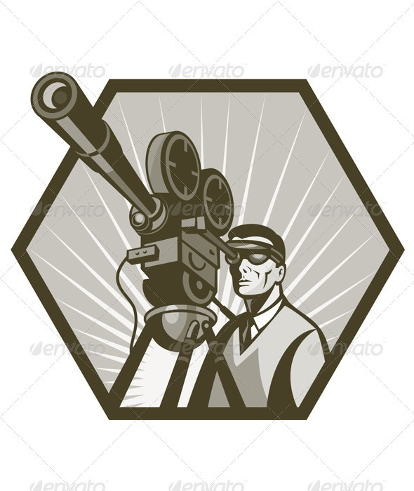 Photography clipart film shooting camera Cameraman Retro Camera Cameraman