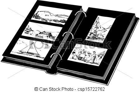 Photography clipart photo album Vector Art Clipart Album Photo