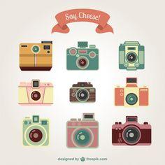 Photography clipart vector art Camera arte #vintage Clip Vector