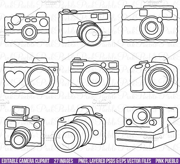 Photography clipart vector art Camera Creative Illustrations ~ Vectors