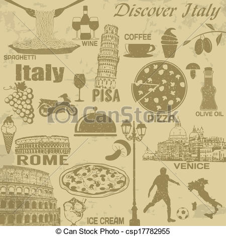 Photography clipart vintage travel Clipart travel poster Italy