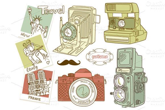 Photography clipart vintage travel Camera Clipart vintage – Download
