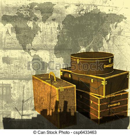 Photography clipart vintage travel Of Luggage  a Stock