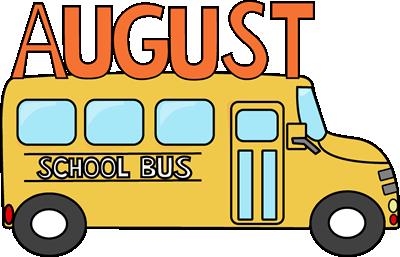Calendar clipart team lunch August Bus Art August School