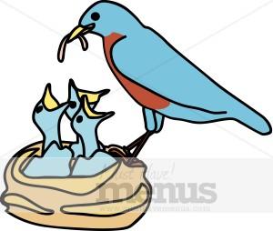 Bluebird clipart mom Baby Baby Birds Clipart Holiday