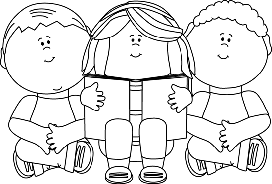 Child clipart black and white Black White Art and Clip