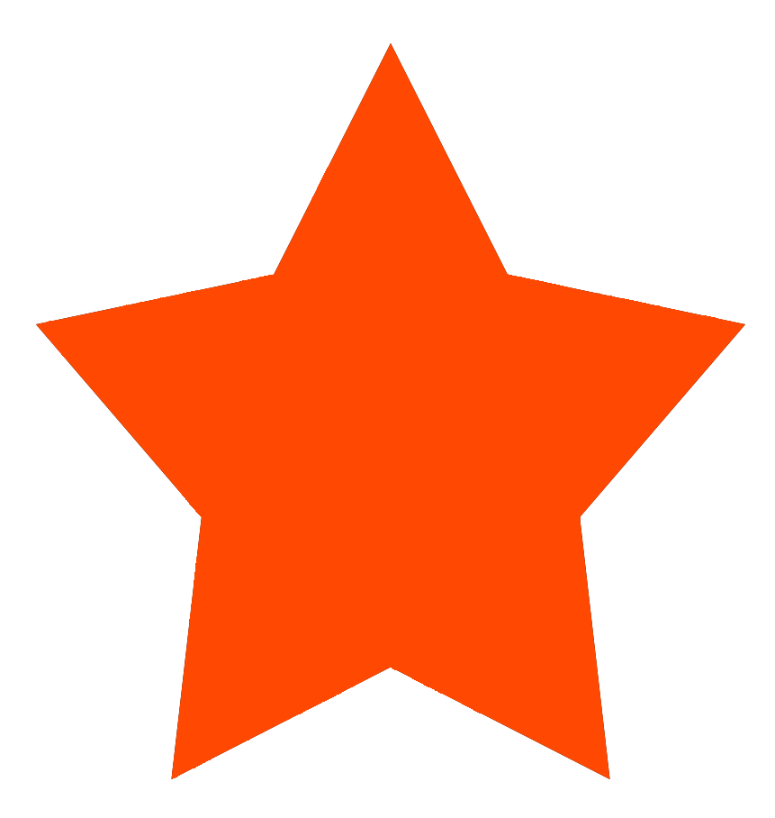 Stars clipart orange Red Star color star Clipart