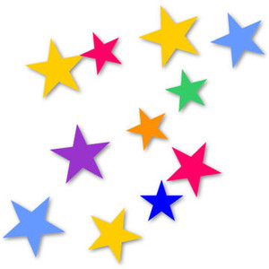 Photos clipart coloured star Clipart Colorful 300x300 Stars collection