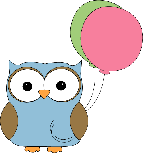 Owl clipart blue and green Images Owl Art Owl Balloons