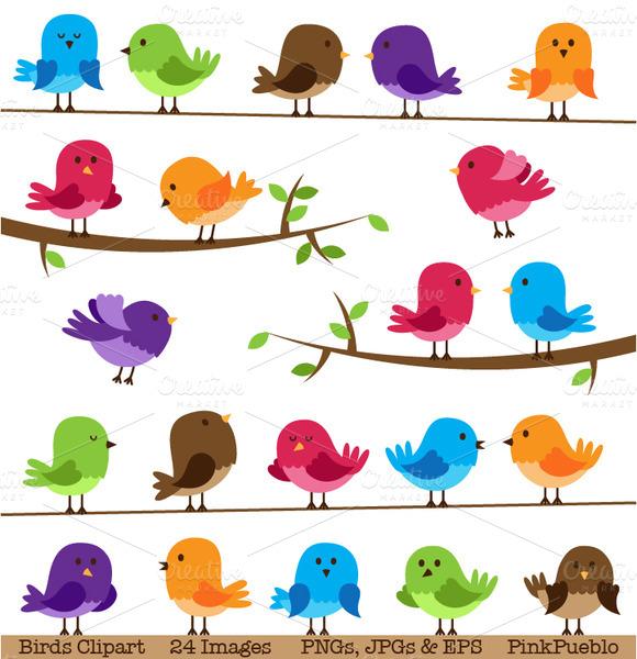 Bird clipart template And Vectors Birds Cute Illustrations