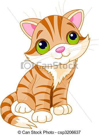 Photos clipart cute kitten #7