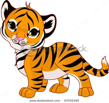 Tigres clipart adorable #2